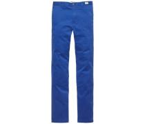 lange Hose »Denton Chino ORG STR Twill« royalblau
