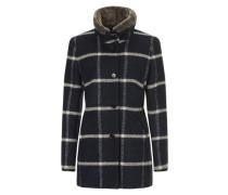 Winter Damenjacke mit warme Plüschkragen creme / dunkelblau