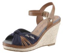Sandalette mit Keilabsatz beige / marine