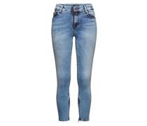 'New Hyperflex Lolina' - Jeans mit Zipper blau