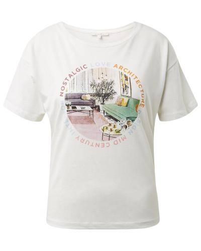 T-Shirt mischfarben / offwhite
