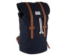 Unisex-Rucksack mit Lederdetails 'Stig' blau