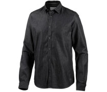 Langarmhemd anthrazit / black denim
