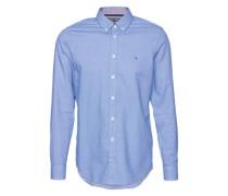 Hemd mit Button-Down-Kragen blau
