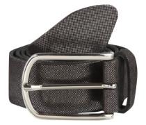 Ledergürtel im Metallic-Look schwarz