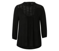'Crepe n Lace' Bluse schwarz