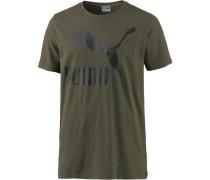 T-Shirt Herren oliv / schwarz