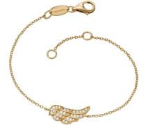 Armband mit Zirkonia 'Flügel Lil' Erb-Lilwing-Zi-G' gold