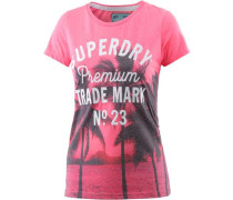 T-Shirt 'Photographic Entry' pink