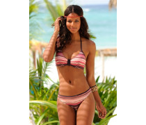 Wire-Bikini beige / braun / orange / koralle