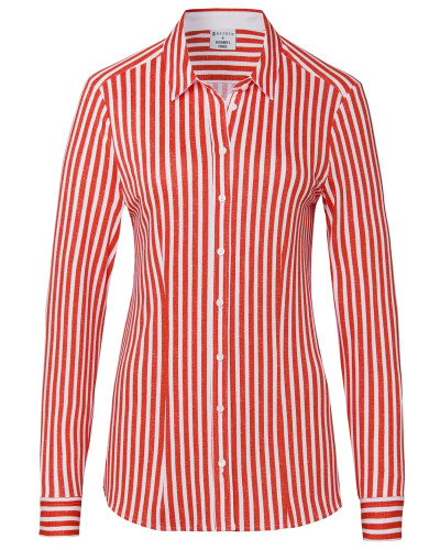 Jerseybluse rot / weiß