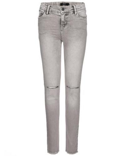 Skinny Fit Jeans Girl Super-Stretch- grau