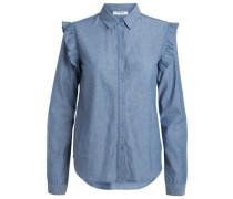 Langärmeliges Hemd taubenblau