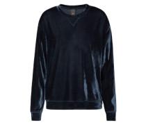 Pullover 'Velvet Sweat' nachtblau