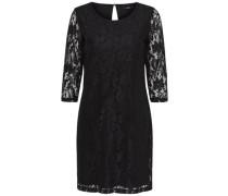 Kleid Spitzen- schwarz