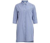 Langes Hemd 'objrada Annso' blau / weiß