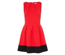 Figurbetontes Kleid mit Spitze rot / schwarz
