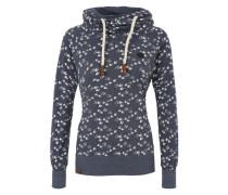 Jerseyshirt mit Kapuze 'Mandy will Vögel (n) V' blau