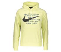 Sweatshirt pastellgelb / schwarz