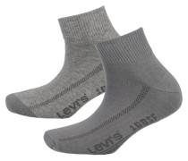 2 Paar Sneaker Socken grau