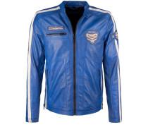 Lederjacke Daytona blau