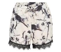 Bedruckte Shorts creme / schwarz