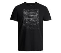 Print-T-Shirt schwarz