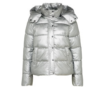 Winterjacke 'metallic Rap' silber