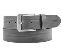 Ledergürtel in Vintage-Optik grau