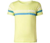 T-shirt 'Fabens' limone / petrol