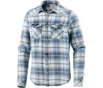 Langarmhemd Herren blau / weiß