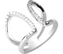 Ring mit Ziersteinen silber