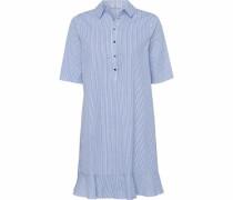 Hemdblusenkleid 'Ilene' rauchblau
