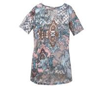 Vokuhila-Kleid blau / pink