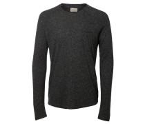 Rundausschnitt T-Shirt mit langen Ärmeln grau
