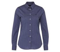Gepunktete Bluse blau
