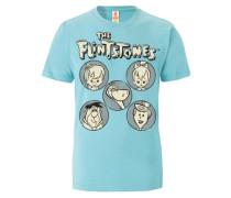 """T-Shirt """"Familie Feuerstein"""" blau"""