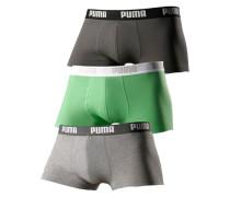 Hipster (3 Stück) mit Logodruck auf breitem Bund grau / grün / schwarz
