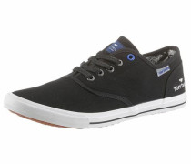Sneaker aus Stoff schwarz