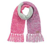 Schal Atlin mit Fransen für Mädchen lila / pink / wollweiß