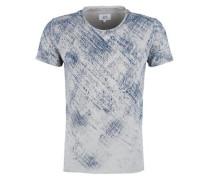 T-Shirt mit Strukturmuster grau