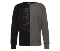 Sweatshirt 'Joe' grau / schwarz