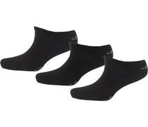 3 Paar Sneaker Socken schwarz