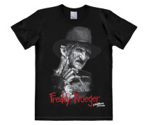 "T-Shirt ""Nightmare On Elm Street"" grau / dunkelrot / schwarz"