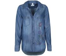 Jeansbluse mit Strass- und Nietenapplikation blue denim