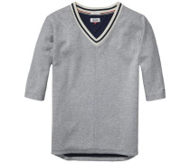 Sweatshirts »Scuba vn hknit 3/4 11« grau