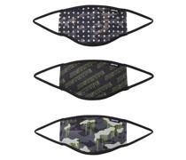 Stoffmasken 3er Pack 'logo Drips' mischfarben
