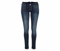 Jeans im Used Look mit Kontrastnähten 'Pitch' blau
