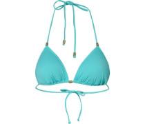 Triangel Bikini Oberteil 'Ocean Love' aqua / gold