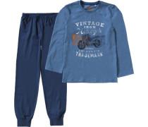Schlafanzug für Jungen blau / marine / blue denim